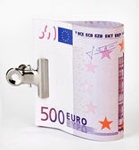 Bundle of 500 Euro bank notes — Stock Photo