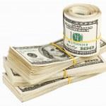 Many bundle of US 100 dollars — Stock Photo #3213867
