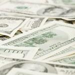 Many US 100 dollars, business background — Stock Photo #3213882