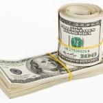Many bundle of US 100 dollars bank notes — Stock Photo