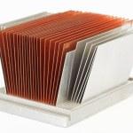 CPU cooler radiator — Stock Photo