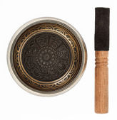 Nepal singing bowl isolated on white background — Stock Photo