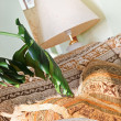 Stock Photo: Part of baroque style sofand lamp shade in classic interior