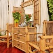 Wooden ethnic bamboo boudoir furniture — Stock Photo #3514862