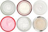 6 不同皮肤药膏和凝胶分离的集 — 图库照片
