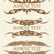 Set of 3 vintage frames.for text — Imagen vectorial