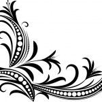 Decorative branch. — Stock Vector