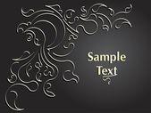 Dessin abstrait pour votre texte. Vector — Vecteur