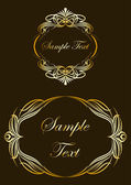 Collection of gold labels. Vector — Stock Vector
