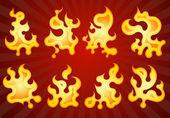 Vector fires. — Stock Vector