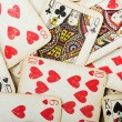 Poker gambling cards - Stock Photo