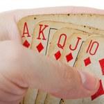 Poker gambling royal flush — Stock Photo