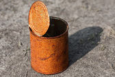 Rusty can — Stock Photo