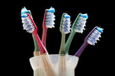 Toothpaste toothbrush — Stock Photo