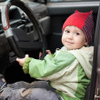 Child driving — Stok fotoğraf