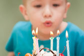 Birthday cake candle — Stock Photo