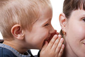 Child whispering — Stock Photo
