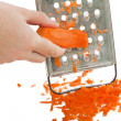 Carrot food grater — Stock Photo