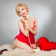 Stock Photo: Stylized pin-up photo