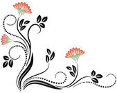 Decorative flowers — Vector de stock