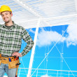 Confident manual worker - Foto Stock