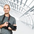 Confident photographer background - Stock Photo