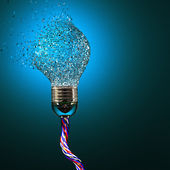 Electric bulb explosion — Stock Photo