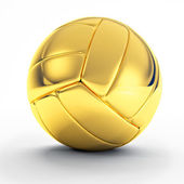 Golden volley ball — Stock Photo