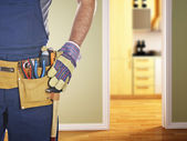 Handyman ready for work — Stock Photo