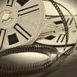 Stock Photo: Aged vintage 8mm film movie