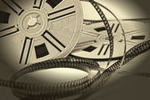 Aged vintage 8mm film movie — Stock Photo