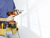 Manual worker background — Stock Photo