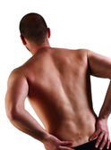 Back pain and surgery — Stock Photo