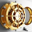Bank vault door 3d - Stock Photo
