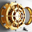 Bank vault door 3d — Stock Photo