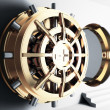 Stock Photo: Bank vault door 3d