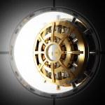 Bank door vault 3d — Stock Photo