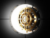 Bank door vault 3d — Stock Photo