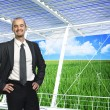 Green eco business — Stock Photo