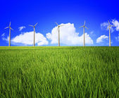 Wind turbine and landscape — Stock Photo