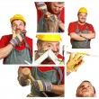 Carpenter at work — Stock Photo