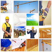 Building industry background — Stock Photo