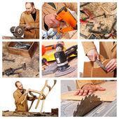 Carpenter at work detail — Stock Photo