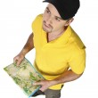 Tourist with map — Stock Photo #3063215