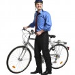 Business man and bicycle — Stock Photo #3147373
