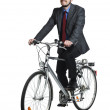 Business man and bicycle — Stock Photo #3157195