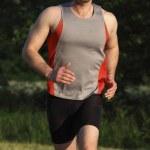 Man run in park — Stock Photo