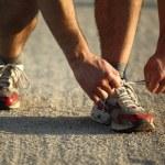 Runner detail — Stock Photo