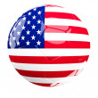 Usa soccer ball — Stock Photo
