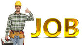Handyman and job background — Stock Photo